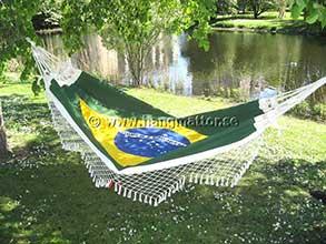 Hängmatta med Brasiliens flagga