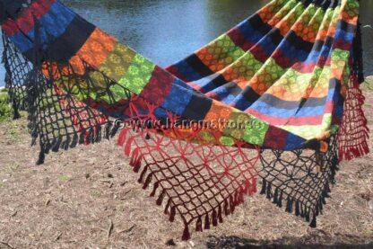 Hängmatta Pantanal knuten dekor på sidorna