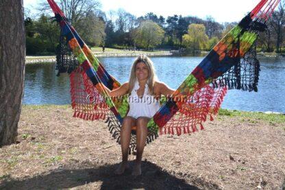 Hängmatta Pantanal sittande i hängmattan