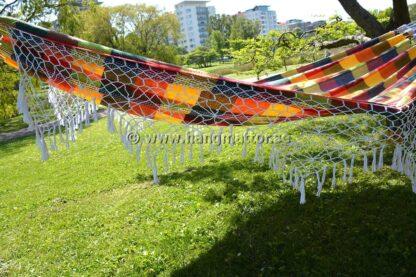 Hängmatta Santa Catarina knuten dekor på sidorna