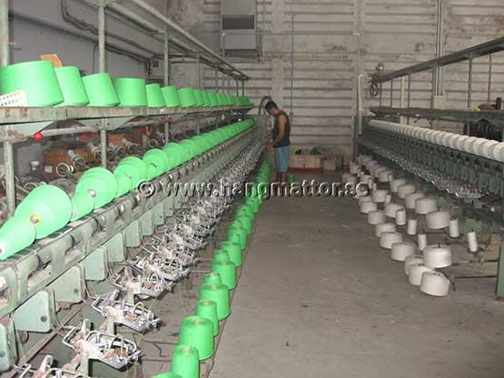 Tillverkning av garn till hängmattor
