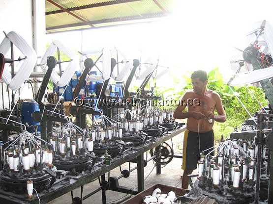 Tillverkning av linor till hängmattor