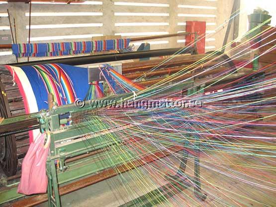Varpställning för tillverkning av hängmattor